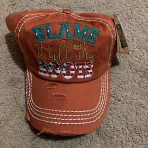 Blame It All On My Roots Cap Hat NWT